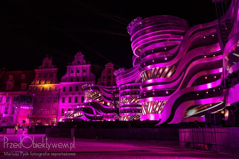 Koncert noworoczny we Wrocławiu – scena